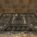 Gas Cook top in granite top