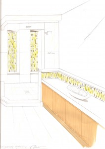 A detailed bathroom plan